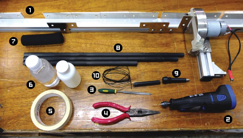 items for making hiking pole